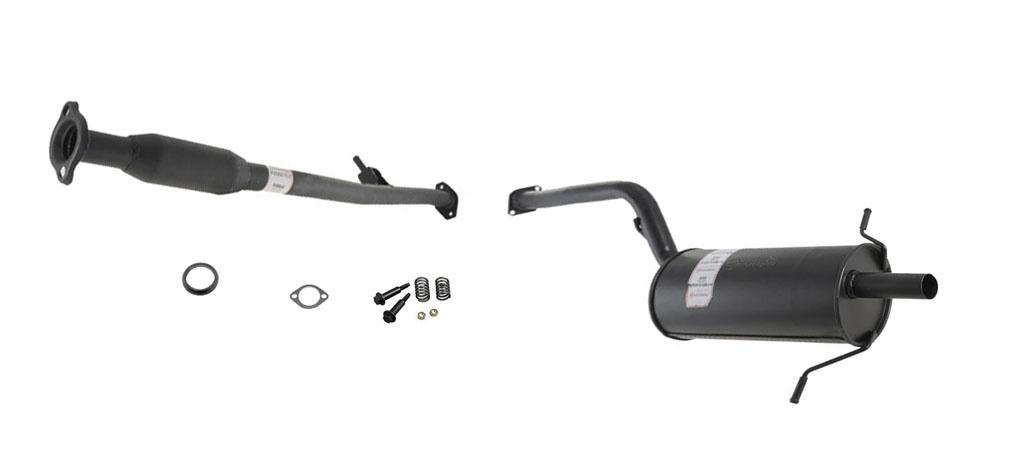 1998 subaru forester 2 5l muffler exhaust pipe system. Black Bedroom Furniture Sets. Home Design Ideas