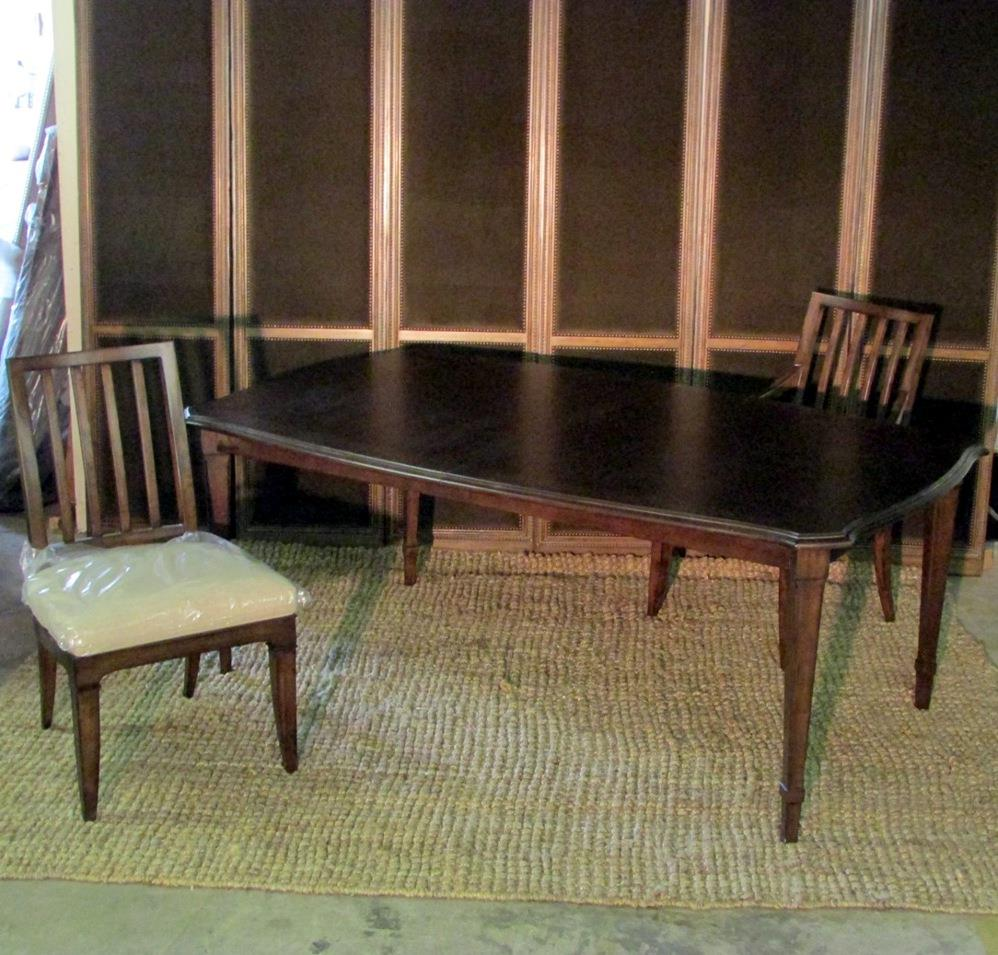 Thomasville furniture harlowe finch dining table axel chairs set opt finish ebay - Thomasville kitchen table ...