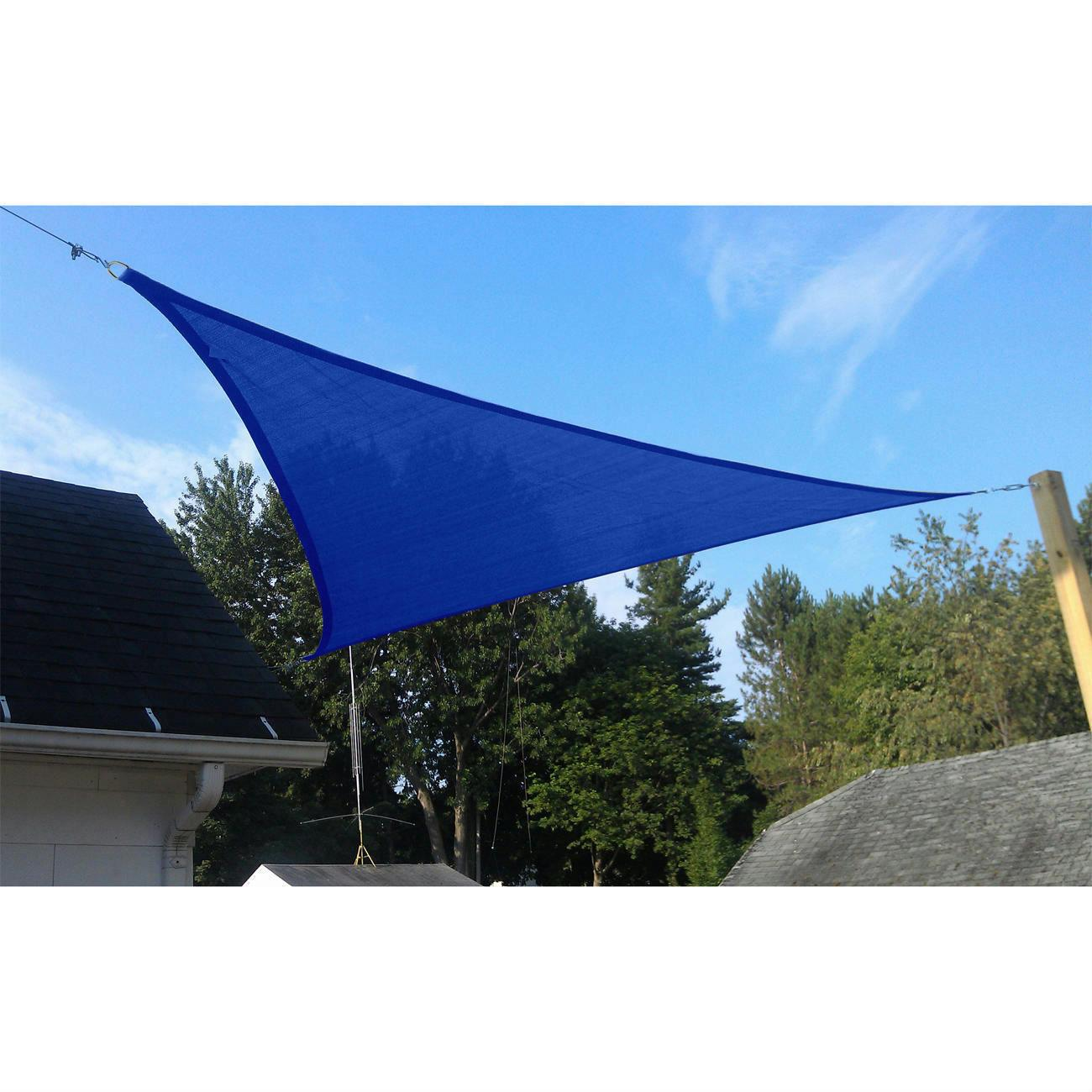 Quictent triangle square rectangle sun shade sail 14 size for Sun shade structure