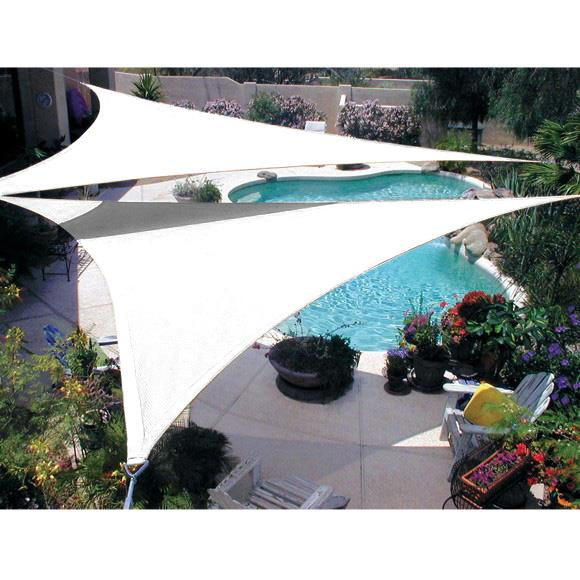 Quictent-Triangle-Square-Rectangle-Sun-Shade-Sail-14-  sc 1 st  eBay & Quictent Triangle Square Rectangle Sun Shade Sail 14 Size Sand ...