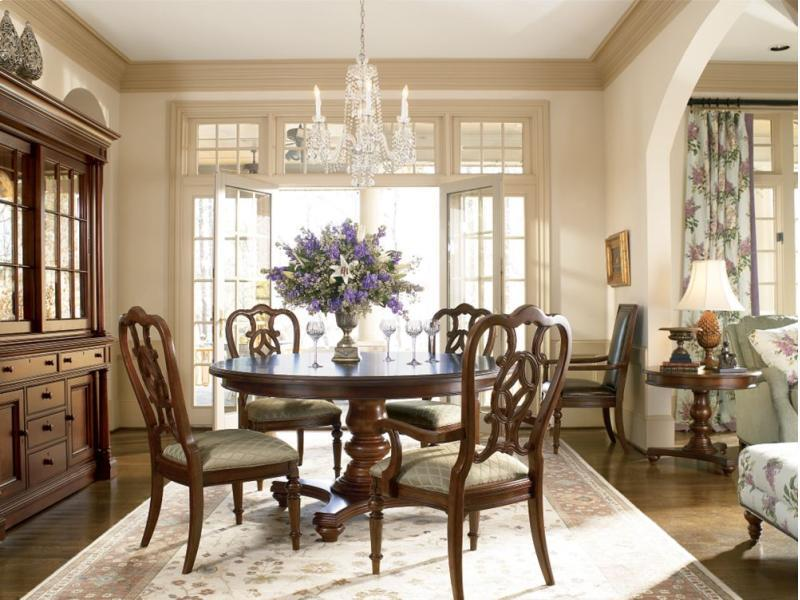 Thomasville Furniture Fredericksburg Round Dining Table And Or Chairs Set EBay