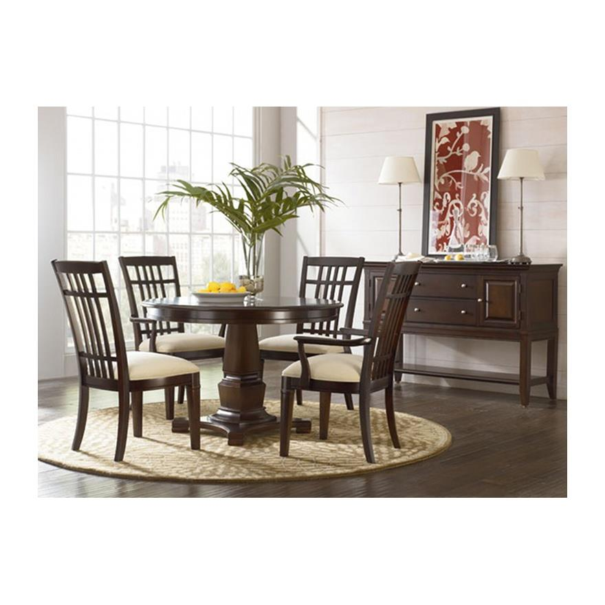 Thomasville Furniture Bridges 2 0 Round Dining Table Opt Chairs Set