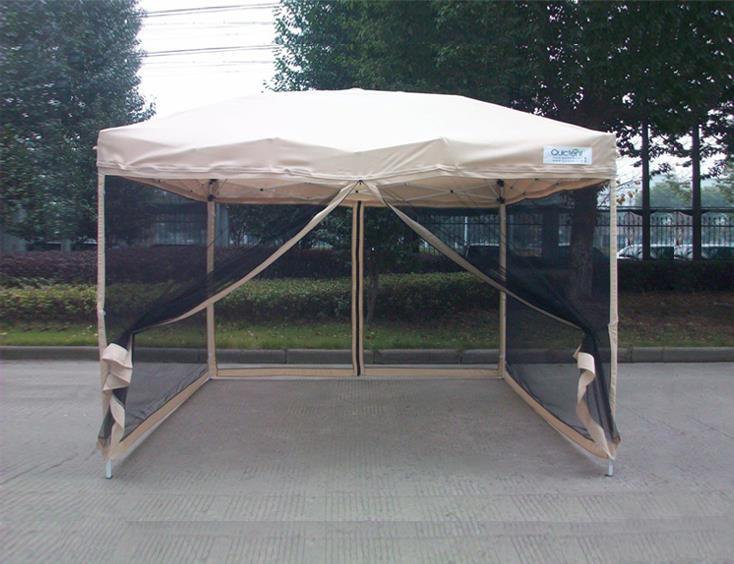 Quictent ez pop up gazebo party tent canopy mesh screen - Screen netting for gazebo ...