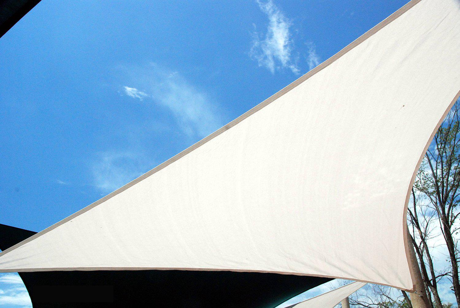 Quictent 12' 16.5' 18' 20' Triangle Sun Shade Sail Outdoor