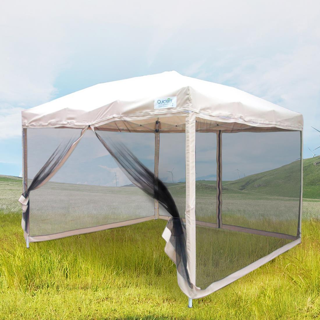 Quictent-10x10-8x8-Pop-Up-Gazebo-Party-Tent- & Quictent 10x10/8x8 Pop Up Gazebo Party Tent Canopy mesh Screen ...