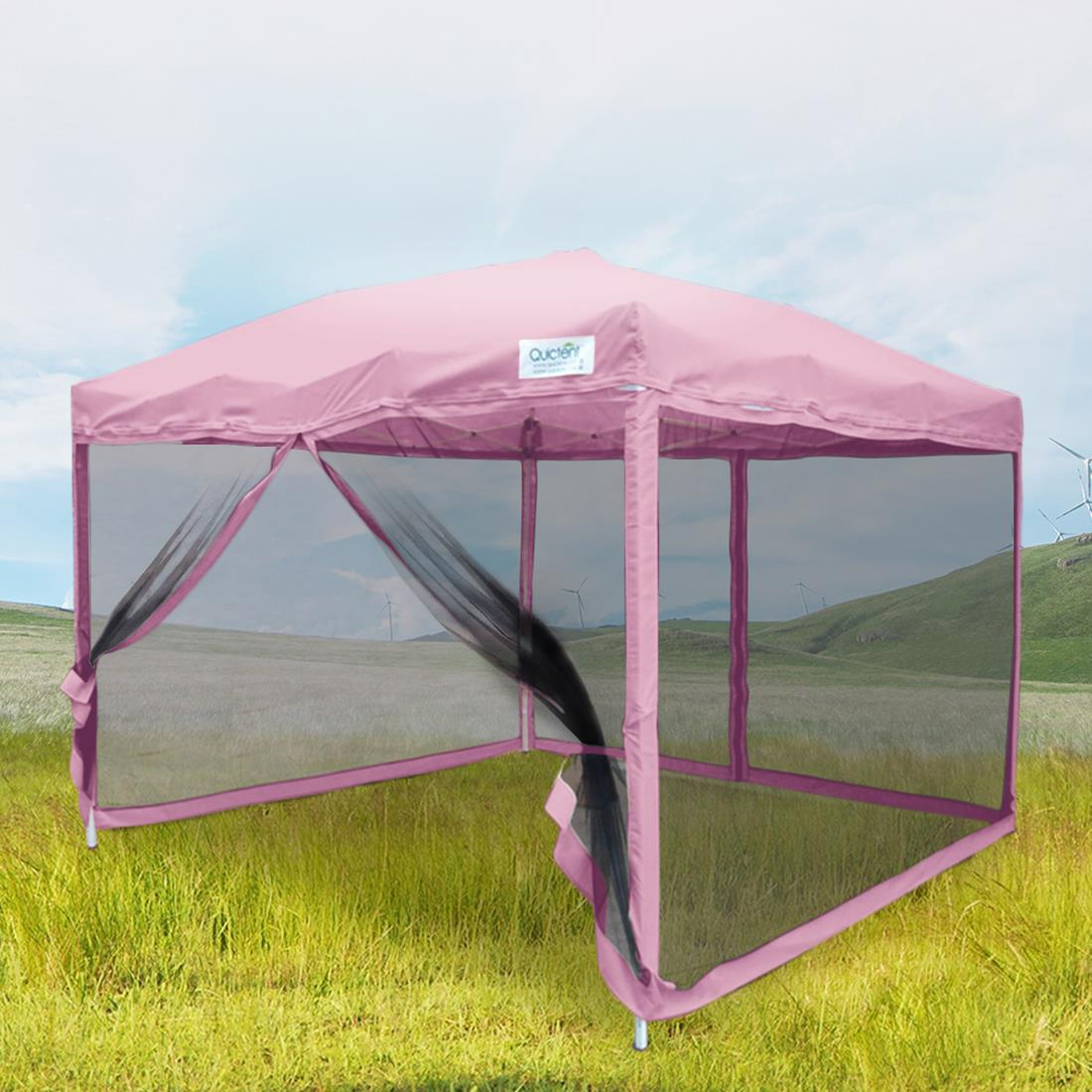 Quictent-10x10-8x8-Pop-Up-Gazebo-Party-Tent- & Quictent 10x10/8x8 Pop Up Gazebo Party Tent Canopy mesh Screen ...