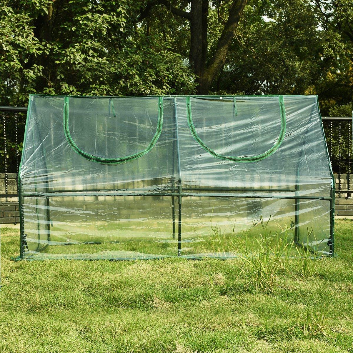 Portable Hot House : Quot portable multi cloche garden mini greenhouse