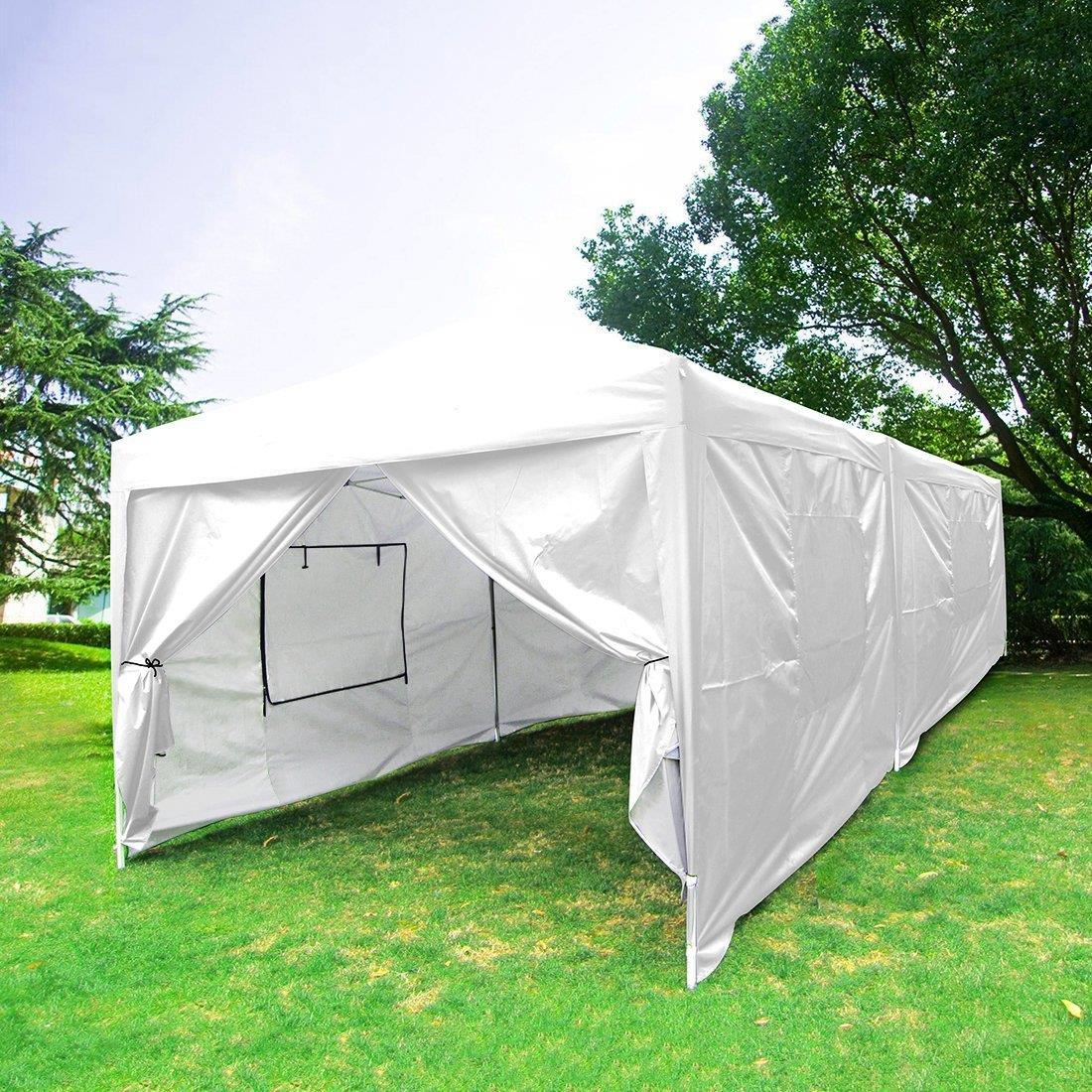 Quictent-10x20-Feet-Screen-Curtain-EZ-Pop-Up- & Quictent 10x20 Feet Screen Curtain EZ Pop Up Canopy Party Tent ...