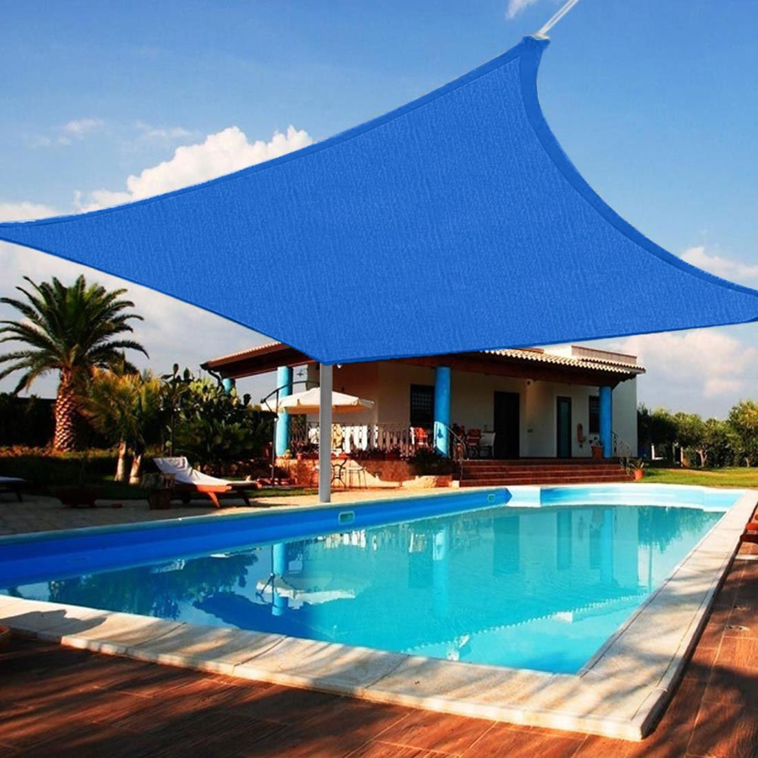 Quictent 24 x 24 ft square sun shade sail outdoor patio for 8 ft garden pool