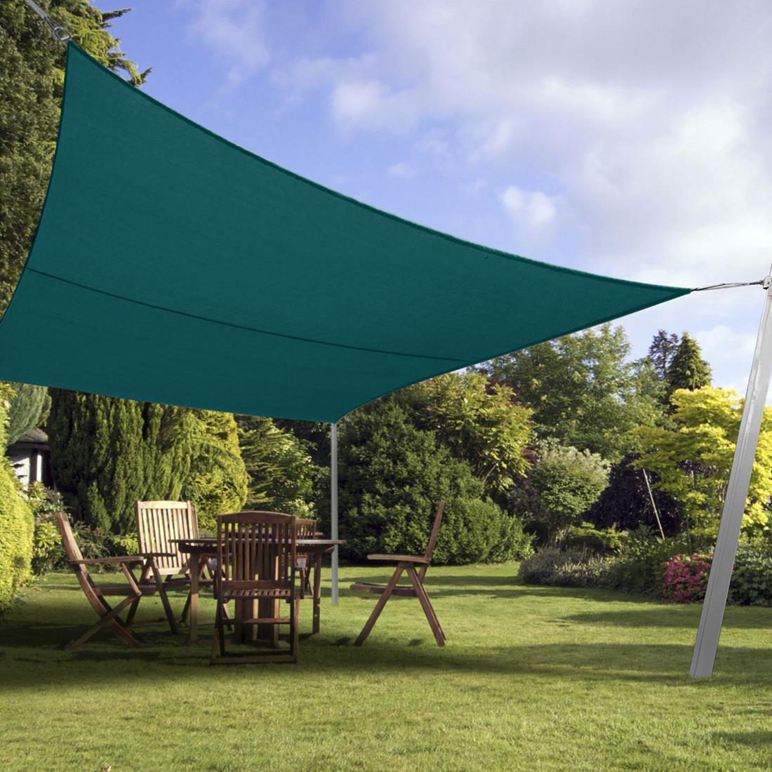 Backyard Sails Shades: Quictent 24 X 24 FT Square Sun Shade Sail Outdoor Patio