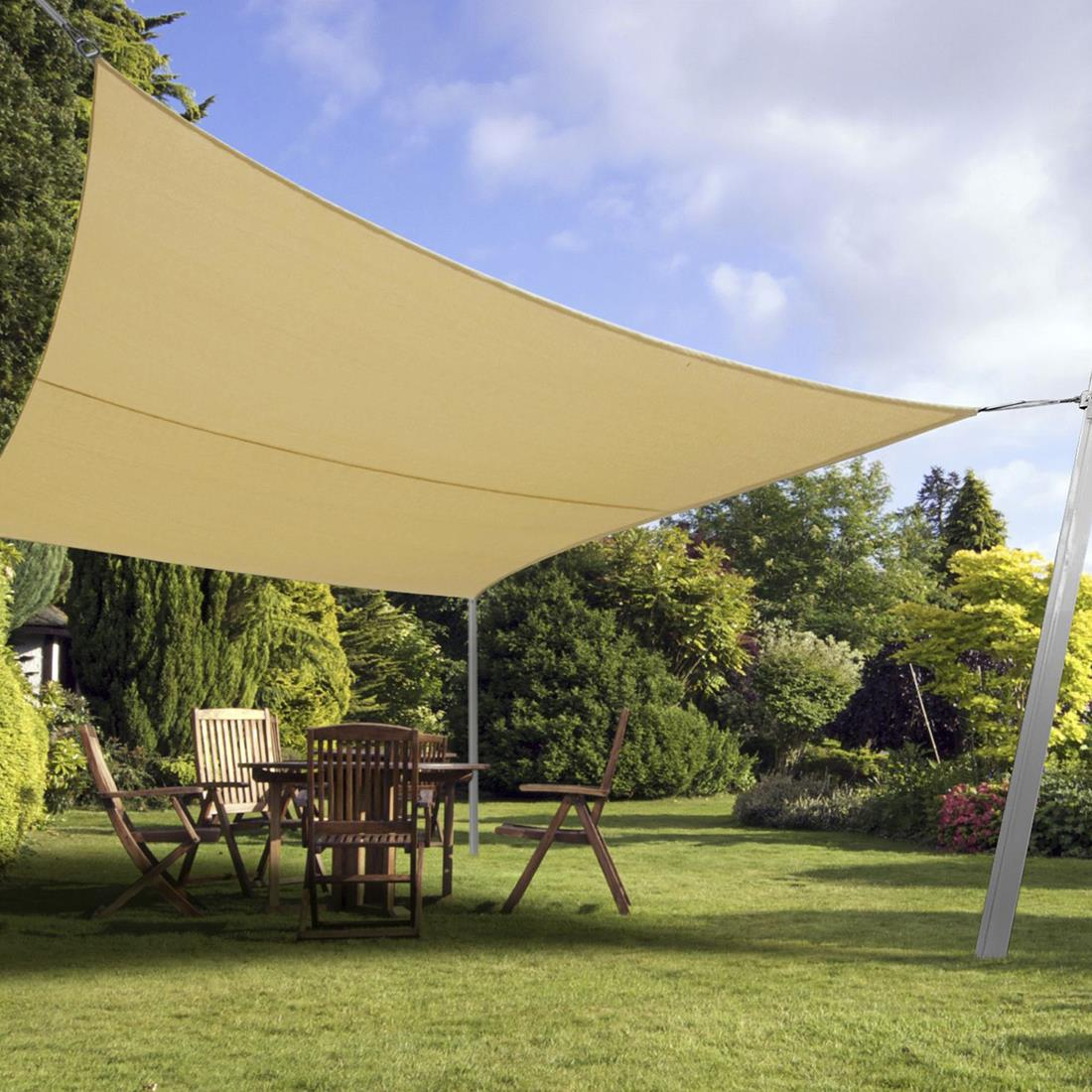 Quictent 24 X 24 FT Square Sun Shade Sail Outdoor Patio ...