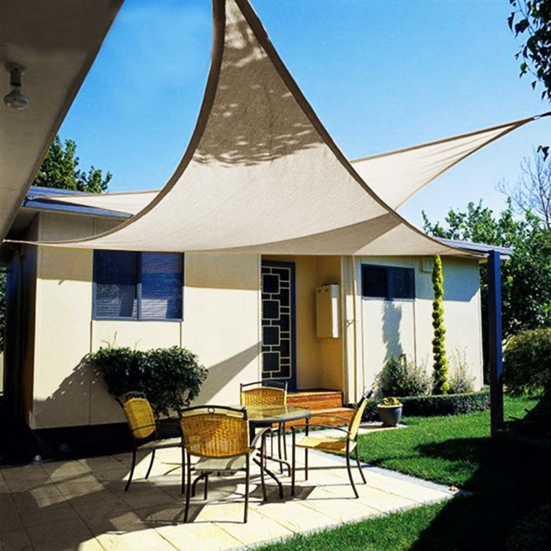 Quictent-12-18-20-FT-Triangle-Sun-Shade- & Quictent 12/18/20 FT Triangle Sun Shade Sail Patio Pool Top Canopy ...