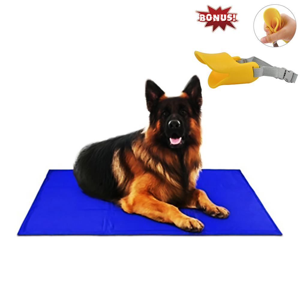free paws pet cooling pad gel mat cooler for dog crate bed. Black Bedroom Furniture Sets. Home Design Ideas