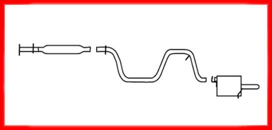 04 08 Chevy Malibu 2 2l Muffler Exhaust System