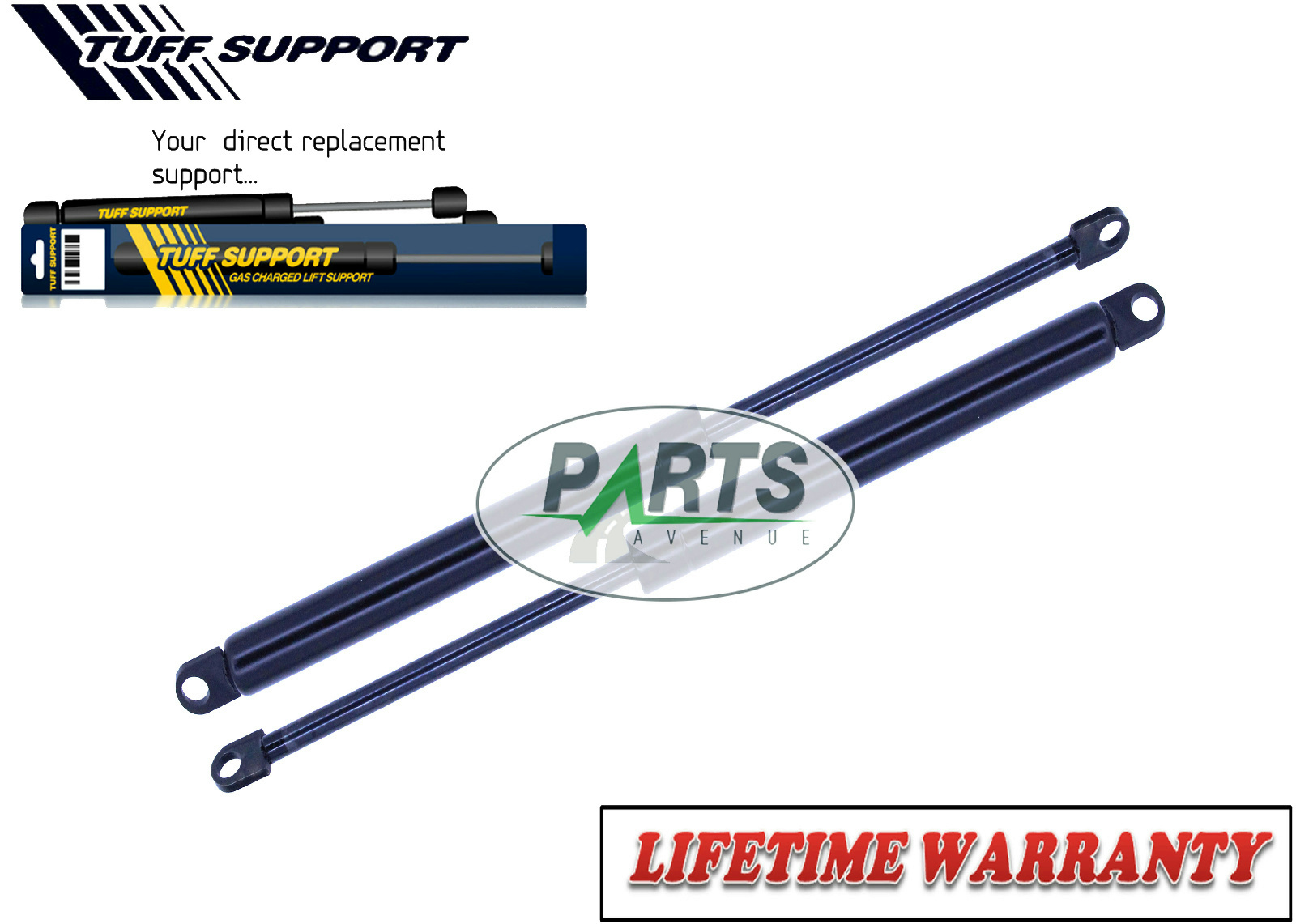 2 REAR TRUNK LID LIFT SUPPORTS SHOCKS STRUTS ARMS PROPS RODS DAMPER  CONVERTIBLE 760c9fa7609