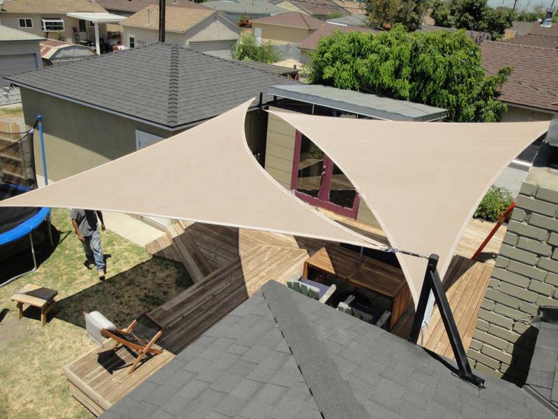 Triangle Sun Shade Canopy Sail Tyres2c