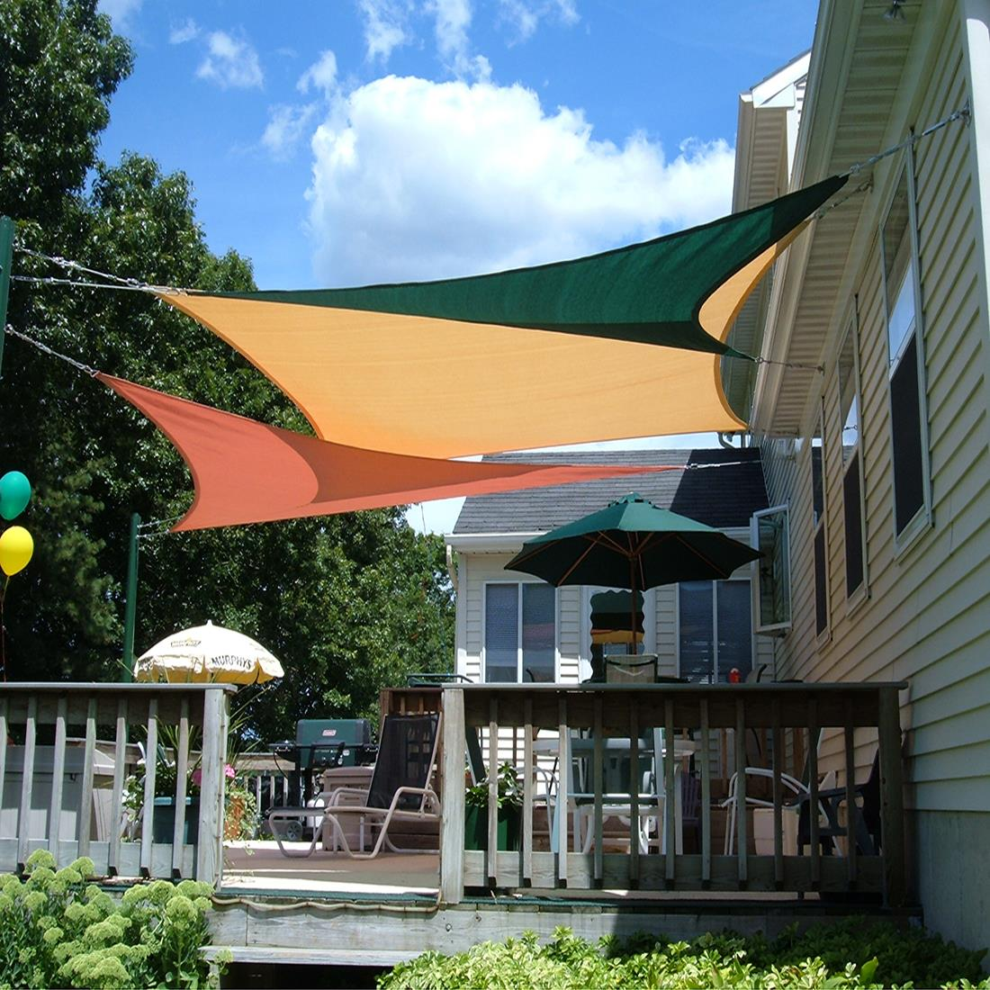 Picture 11 of 19; Picture 12 of 19 & Quictent 12/18/20 FT Triangle Sun Shade Sail Patio Pool Top Canopy ...