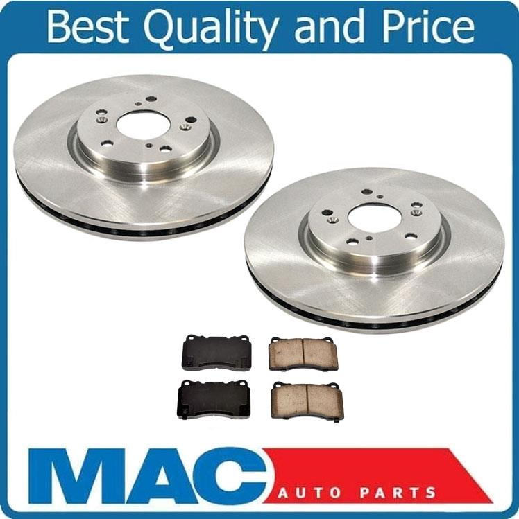 Front Rotors & Pads W Brembo Calipers For Acura TL Manual